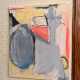 """Meg Ciccantelli. 16x24"""" Untitled, 2018. Acrylics, oil pastels."""